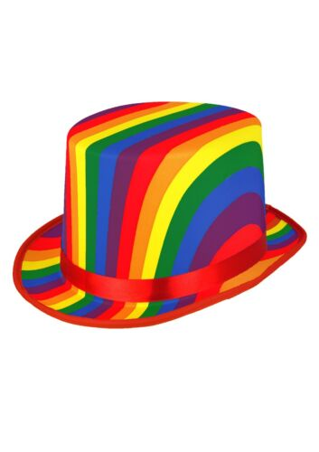 H20 441 Fancy Dress Rainbow Clown Top Hat LGBT Pride Festival 5//10//15//20