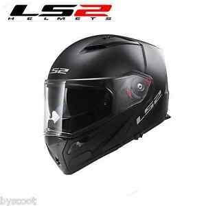 Casque-modulable-LS2-FF324-Metro-Solid-moto-scooter-quad-Pinlock-double-ecran
