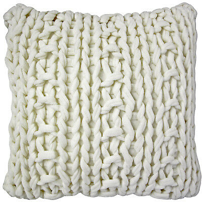 Pillow Decor - Hygge Nordic Cream Chunky Knit Pillow