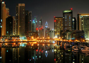 DUBAI-CREEK-NIGHT-NEW-A2-CANVAS-GICLEE-ART-PRINT-POSTER-FRAMED