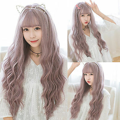 Long Curly Wavy Ombre Heat Resistant Hair Women Cosplay Party Full Wig Wigs