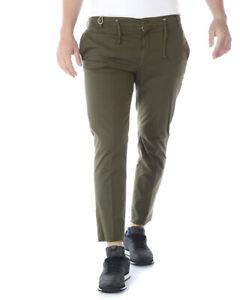 3a6021483a Pantaloni Daniele Alessandrini Jeans Trouser Cotone Uomo Verde ...
