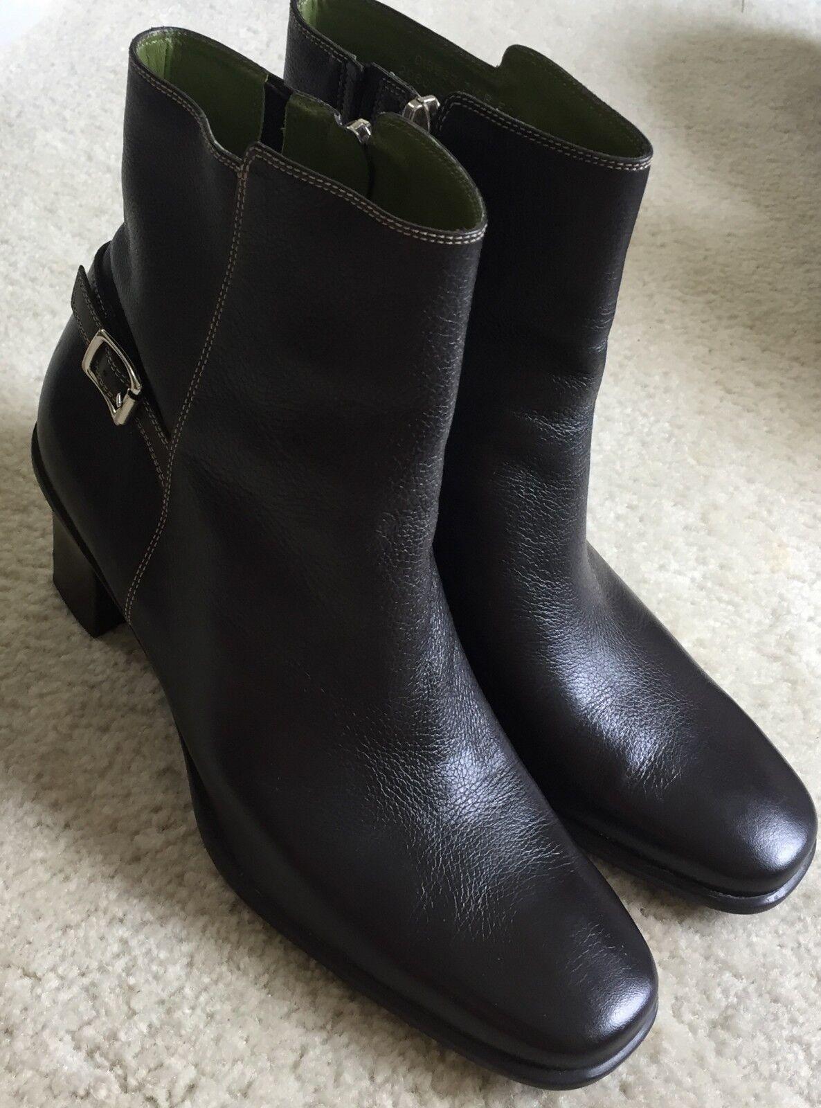 Para mujer mujer mujer Cole Haan botas al tobillo con cremallera de Cuero Marrón Talla 7.5 M  la mejor oferta de tienda online