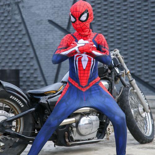 Hot Spider-Man Jumpsuit Game PS4 Insomniac Suit Zentai Halloween Cosplay Costume