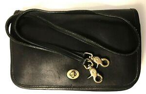 COACH-VINTAGE-70-039-S-Black-Leather-9635-SHOULDER-BAG-OR-CLUTCH