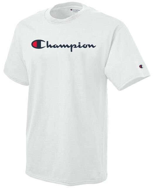 dadb905c Champion Men's Jersey Tee Script Logo Gt280 2xl White for sale ...