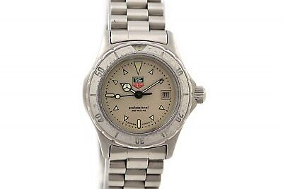 Sunny Vintage Tag Heuer 2000 Series 972.008f Quartz Stainless Steel Ladies Watch 491 Invigorating Blood Circulation And Stopping Pains Wristwatches