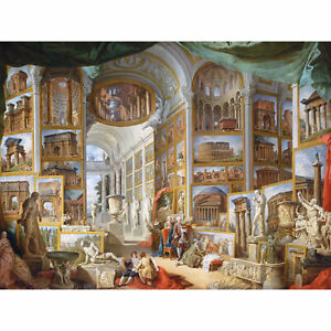 Panini-Ancient-Rome-Monuments-Allegory-Painting-XL-Canvas-Art-Print