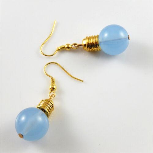 1 Paire Coloré Boucles d/'oreilles résine Ampoule Pendentifs Dangles Hook Jewelry Findings