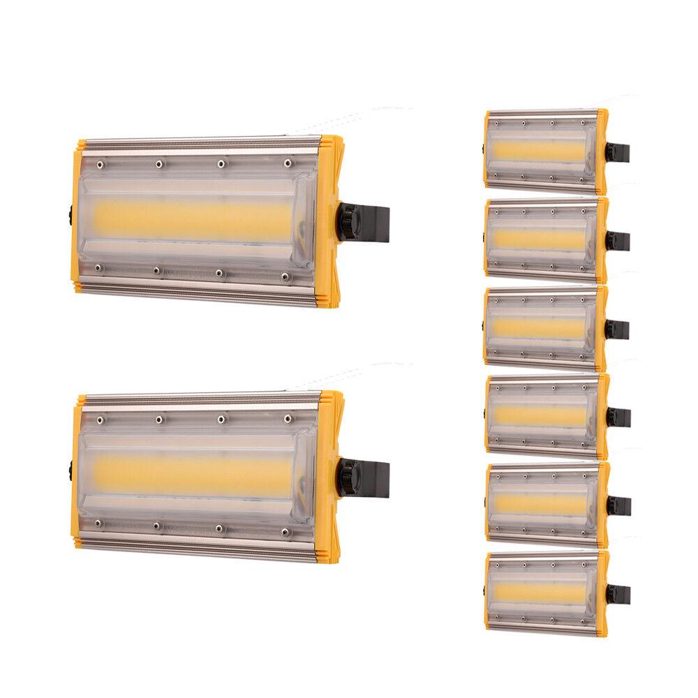 6x 50w LED eh reflector colocado exterior lámpara faros blancoo cob emisor jardín
