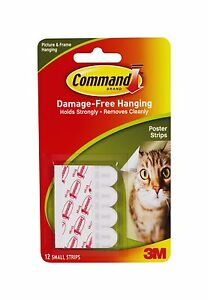 4-x-3M-Command-12-Poster-Hanging-Small-Picture-Strips-Damage-Free-Hanging-New