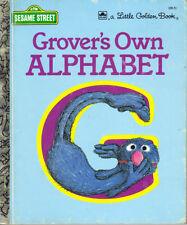 SESAME STREET - GROVER'S OWN ALPHABET -  LITTLE GOLDEN BOOK  - JIM HENSON - VGC