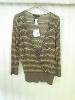 Apostrophe See Thru Sweater Berkshire Brown $36 Xlarge