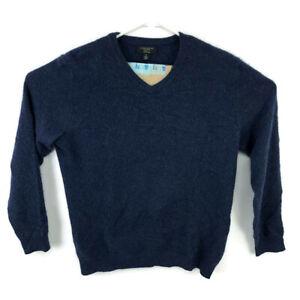 Charter-Club-Mens-Medium-Blue-V-Neck-Sweater-100-Cashmere