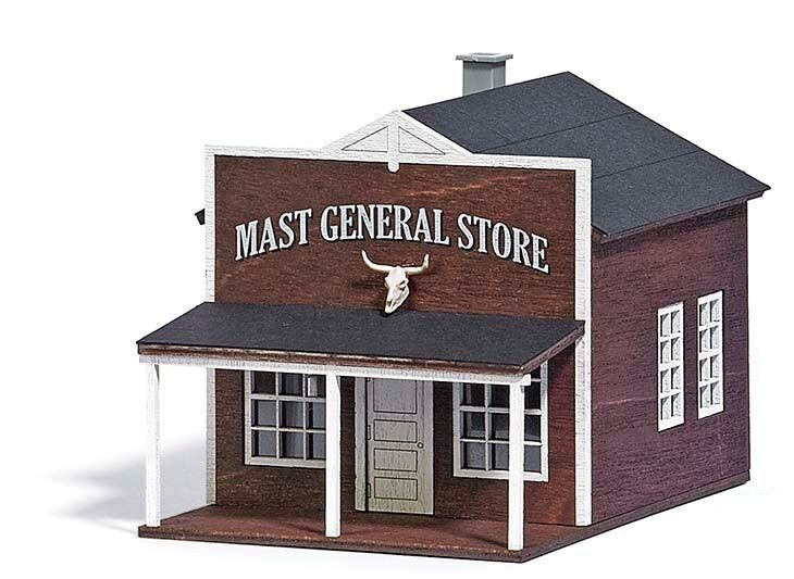 NEW 2017 RELEASE   HO Busch   Western USA GENERAL STORE w  Cow Skull KIT