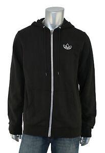 Détails sur Adidas Originaux Noir Adicolor Pull à Capuche Veste de Survêtement M Neuf