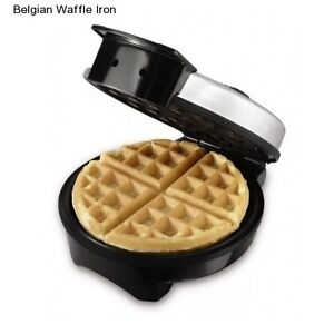 Round-Waffle-Maker-Belgian-Electric-Breakfast-Griddle-Iron-Stainless-Steel-Gift