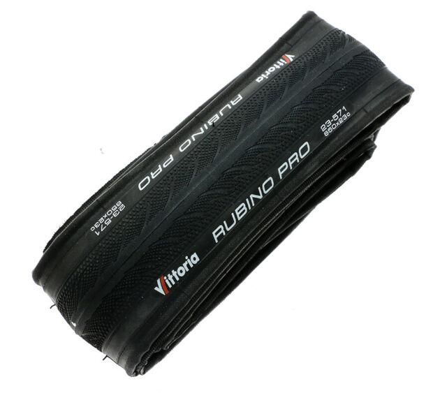 New Vittoria Rubino Pro III 700C X 25mm 150 TPI Folding Clincher Tire Full Black