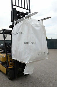 New Heavy Duty Bulk bag 35x35x50 FIBC (Sack) Ton bag 4000LB SWL, Fast Ship