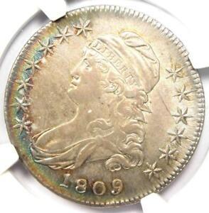 1809 III Edge Capped Bust Half Dollar 50C - NGC AU55 - Rare Coin - $2,550 Value!
