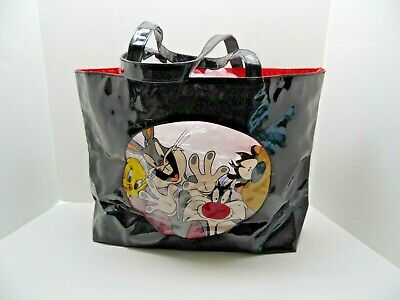New Warner Bros LOONEY TUNES Vinyl Tote Bag Bugs Bunny Tweety Bird Daffy Duck