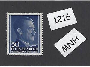 1216-MNH-1943-stamp-50-Gr-Adolph-Hitler-Occupied-Poland-Third-Reich
