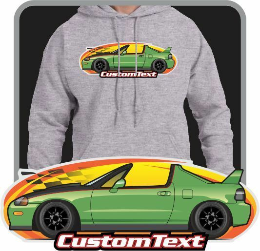 Custom Art Hoodie 1992 93 94-98 Civic DelSol not affiliated with HONDA CRX Vtec