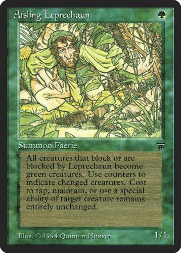 Aisling Leprechaun Legends HEAVILY PLD Green Common MAGIC MTG CARD ABUGames