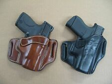 Azula Leather OWB 2 Slot Pancake Belt Holster CCW For..Choose Gun & Color - A