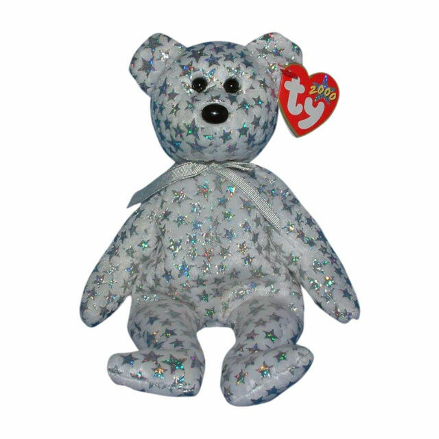 Bear 2002 MWMT Ty Beanie Baby Sherbet Lilac