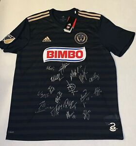 ever popular outlet online performance sportswear Philadelphia Union 2019 team signed Adidas jersey autographed MLS ...