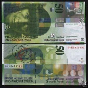 Switzerland UNC P-71 2012 50 Francs