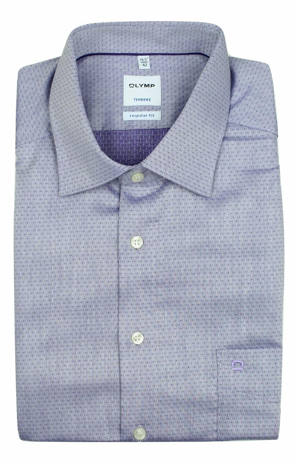 Purple Patterned Spread Collar