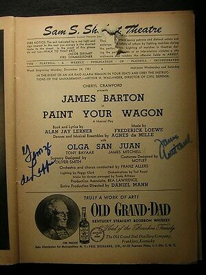 Entertainment Memorabilia Autographs-original 1951 James Mitchell Paint Your Wagon Signed Sam S Shubert Theatre Playbill 468k To Have A Long Historical Standing