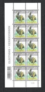 BELGIQUE-BUZIN-OISEAUX-BIRDS-FOULQUE-MACROULE-BLOC-10V-MNH