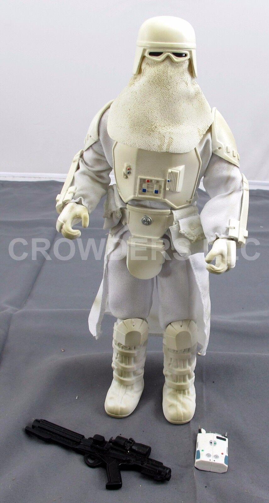Star Wars Wars Wars 12  Imperial Snowtrooper w  Blaster Rifle & Commlink Hasbro 1999 OOP fc2cac