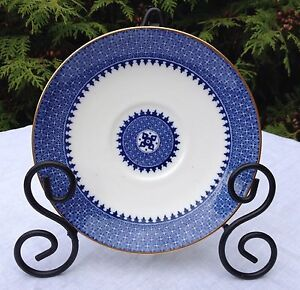 VINTAGE-ART-DECO-WEDGWOOD-BONE-CHINA-REPLACEMENT-LARGE-SAUCER-034-LYNNa-034-PATTERN