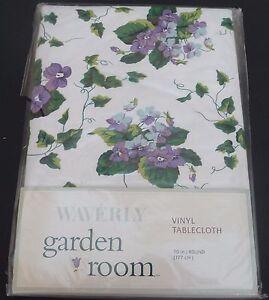 Waverly Vinyl Tablecloth Garden Room 70 Quot Round New