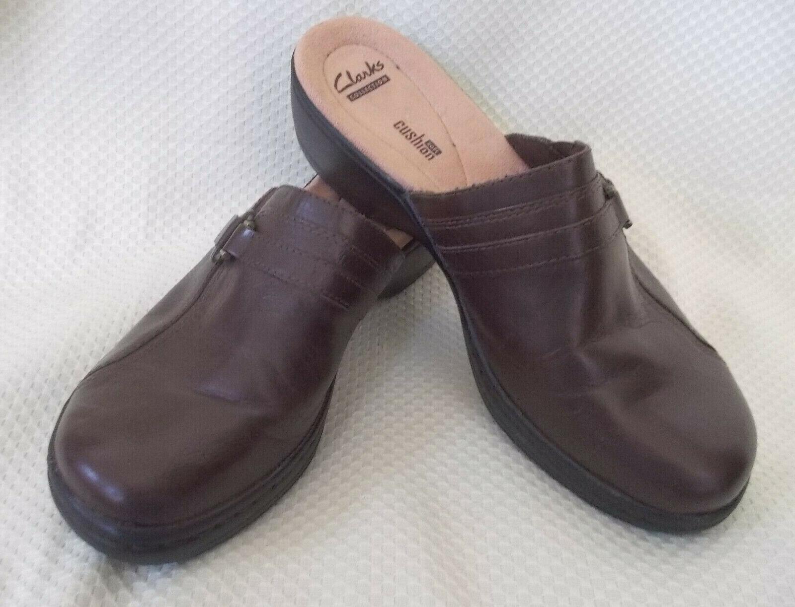 Dark Brown Clogs Mules 9M