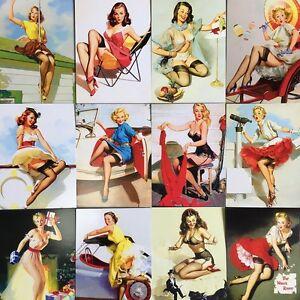 LOTS-30PCS-Retro-Pinup-Girl-Gil-Elvgren-Beauty-Vintage-Postcard-Poster-Bulk-Set