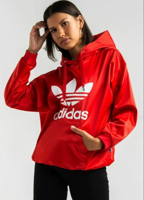 best selling in stock excellent quality adidas Womens Originals Trefoil Hoodie Size S