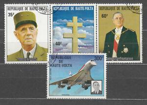 Haut-Volta-Courrier-Yvert-304A-A-168-ou-Charles-De-Gaulle