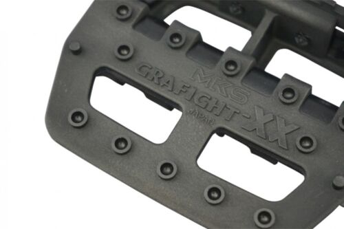 "Sold In Pairs Genuine MKS Graphite-XX Reproduction Pedals 9//16/"" Black"