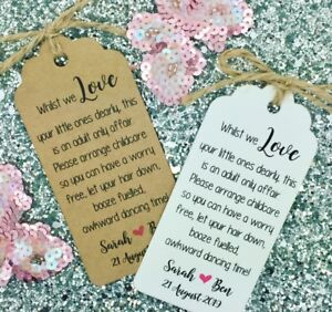 Image Is Loading Wedding No Kids Free Request Poem Card