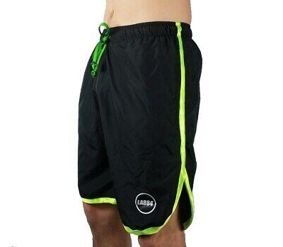 Sito Ufficiale Lab84 Pantaloncini Costume Shorts Mare Sport S8 Shm1002fluo Nero Verde 4030g Altamente Lucido