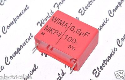 1pcs 10µF 250V 5/% pitch:37.5mm Capacitor WIMA MKP4 10uF