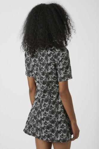 TOPSHOP JACQUARD NOTCH OVERLAY DRESS