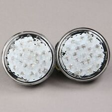 Universal Motorcycle 20 LED Turn Signal Indicator Amber Light Round Clear Lens