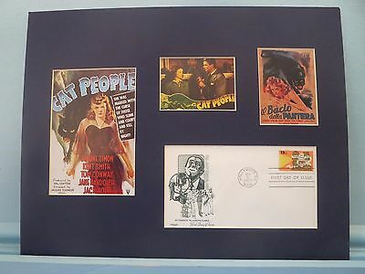 "Simone Simon ""cat People"" & First Day Cover Of Talkies 50th Anniversary Stamp A Complete Range Of Specifications Entertainment Memorabilia"