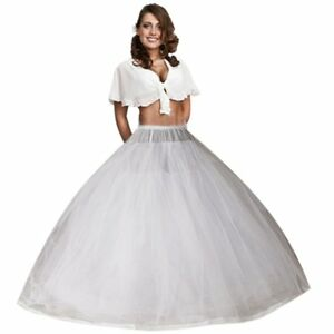 Women-Formal-Occasions-Eight-Layer-Tulle-No-Hoop-Underskirt-Dress-Petticoat-New